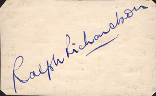 SIR RALPH RICHARDSON - AUTOGRAPH