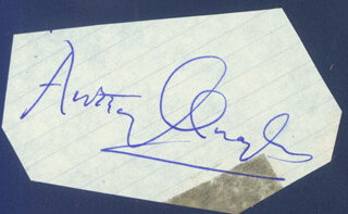 SIR ANTHONY QUAYLE - AUTOGRAPH
