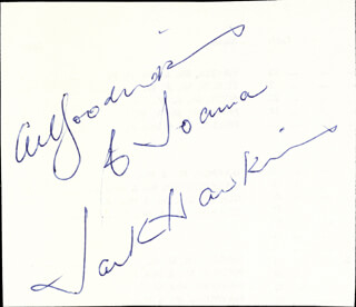 JACK HAWKINS - INSCRIBED SIGNATURE