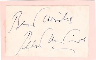 PETER USTINOV - AUTOGRAPH SENTIMENT SIGNED