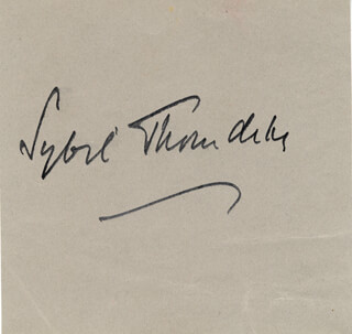 DAME SYBIL THORNDIKE - AUTOGRAPH CO-SIGNED BY: RUTH ETTING