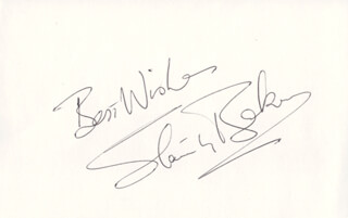 Autographs: SIR STANLEY BAKER - AUTOGRAPH SENTIMENT SIGNED