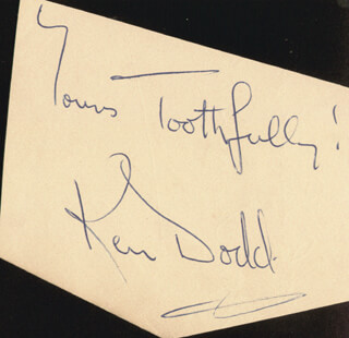KEN DODD - AUTOGRAPH SENTIMENT SIGNED