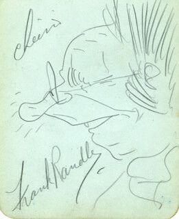 FRANK RANDLE - SELF-CARICATURE SIGNED