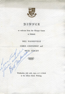 BILL NANKEVILLE - INSCRIBED PROGRAM SIGNED