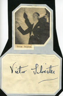 VICTOR SILVESTER - AUTOGRAPH