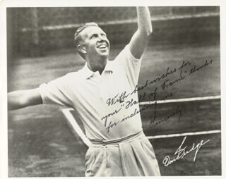 Autographs: DON BUDGE - PRINTED PHOTOGRAPH SIGNED IN INK