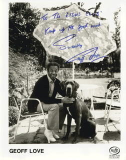 GEOFF LOVE - INSCRIBED PRINTED PHOTOGRAPH SIGNED IN INK