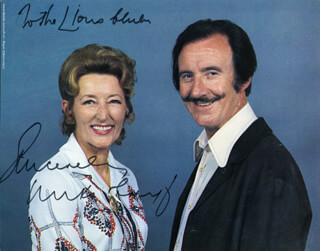 MIKI & GRIFF - AUTOGRAPHED INSCRIBED PHOTOGRAPH CIRCA 1984 CO-SIGNED BY: MIKI & GRIFF (EMYR MORRIS GRIFFITH), MIKI & GRIFF (BARBARA MACDONALD)