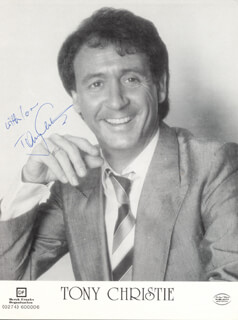 TONY CHRISTIE - PRINTED PHOTOGRAPH SIGNED IN INK