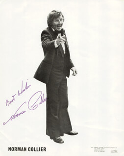 NORMAN COLLIER - AUTOGRAPHED SIGNED PHOTOGRAPH