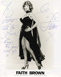 FAITH BROWN - AUTOGRAPHED INSCRIBED PHOTOGRAPH CIRCA 1984