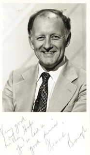 FRANK BOUGH - AUTOGRAPHED SIGNED PHOTOGRAPH