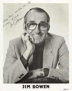 Autographs: JIM BOWEN - INSCRIBED PRINTED PHOTOGRAPH SIGNED IN INK