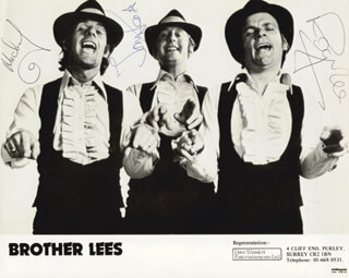 BROTHER LEES - PRINTED PHOTOGRAPH SIGNED IN INK CO-SIGNED BY: TONY DYBALL, MICHAEL DYBALL, ROGER REYNOLDS