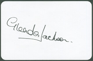 GLENDA JACKSON - PLAYING CARD SIGNED