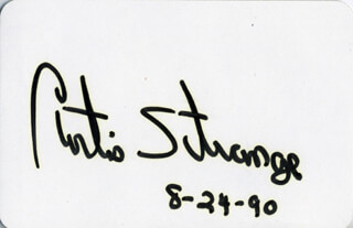 CURTIS N. STRANGE - PLAYING CARD SIGNED 08/24/1990