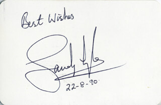 SANDY LYLE - PLAYING CARD SIGNED 08/22/1990