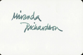 MIRANDA RICHARDSON - PLAYING CARD SIGNED