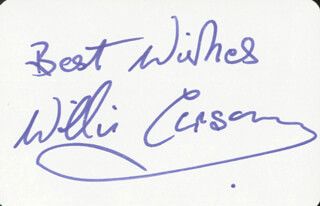 Autographs: WILLIE CARSON - PLAYING CARD SIGNED