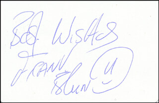 FRANK BRUNO - PLAYING CARD SIGNED