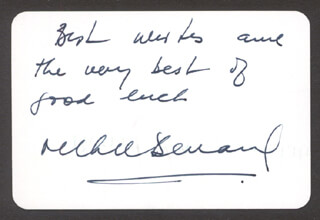 RICHIE BENAUD - PLAYING CARD SIGNED