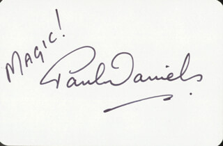 Autographs: PAUL DANIELS - PLAYING CARD SIGNED