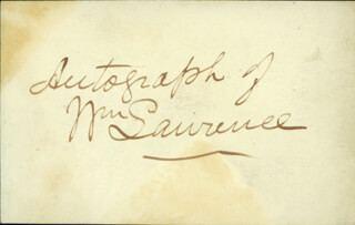 WILLIAM LAWRENCE - AUTOGRAPH