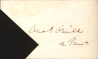 CHARLES O'NEILL - AUTOGRAPH