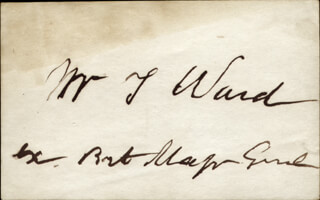 Autographs: MAJOR GENERAL WILLIAM THOMAS WARD - SIGNATURE(S)