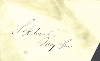 Autographs: MAJOR GENERAL SAMUEL R. CURTIS - SIGNATURE(S)