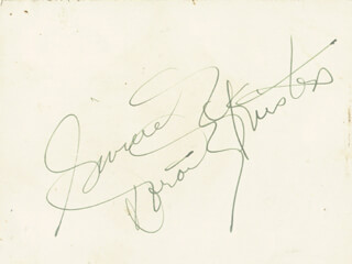 DOROTHY KIRSTEN - AUTOGRAPH SENTIMENT SIGNED
