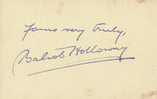 BALIOL HOLLOWAY - AUTOGRAPH SENTIMENT SIGNED