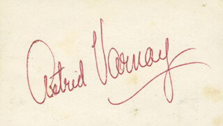 ASTRID VARNAY - AUTOGRAPH