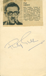 PHILIP GREEN - AUTOGRAPH