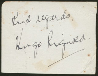 HUGO RIGNOLD - AUTOGRAPH SENTIMENT SIGNED