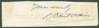 ROBERT ATKINS - AUTOGRAPH SENTIMENT SIGNED