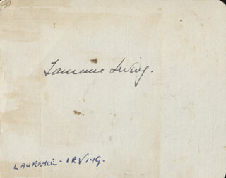 LAURENCE IRVING - AUTOGRAPH