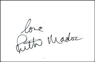 RUTH MADOC - PLAYING CARD SIGNED