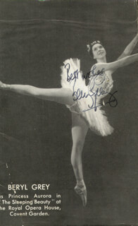 BERYL GREY - MAGAZINE PHOTOGRAPH SIGNED