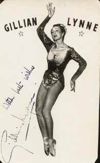 GILLIAN LYNNE - AUTOGRAPHED SIGNED PHOTOGRAPH