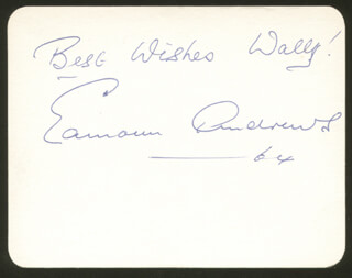 Autographs: EAMONN ANDREWS - INSCRIBED SIGNATURE 1964