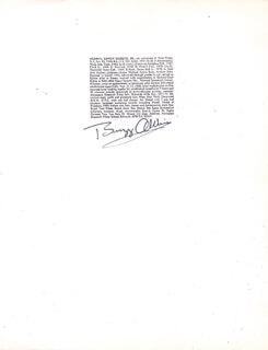 COLONEL BUZZ ALDRIN - PHOTOCOPY SIGNED IN INK
