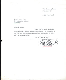 RAY ELLINGTON - TYPED LETTER SIGNED 06/29/1966