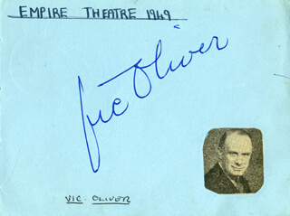 VIC (VICTOR) OLIVER - AUTOGRAPH CIRCA 1949 CO-SIGNED BY: RIC KENNEDY, ROY EDWARDS