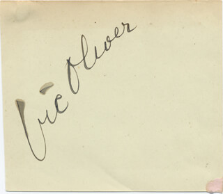 VIC (VICTOR) OLIVER - AUTOGRAPH