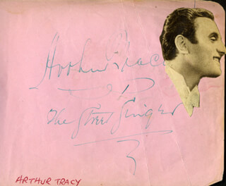 ARTHUR TRACY - AUTOGRAPH CO-SIGNED BY: BRYAN MICHIE