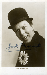 JACK PLEASANTS - AUTOGRAPHED SIGNED PHOTOGRAPH