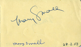 MARY SMALL - AUTOGRAPH CIRCA 1953 CO-SIGNED BY: GARDNAR GAR MULLOY