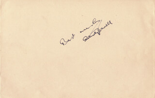SANDY POWELL - AUTOGRAPH SENTIMENT SIGNED CIRCA 1936 CO-SIGNED BY: TOYO